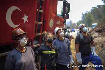 Wildfire reaches Turkey power plant, prompts evacuations