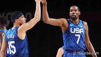 Las estadísticas, datos y números individuales de la victoria de Estados Unidos ante España en los Juegos Olímpicos Tokio 2020 - NBA MX