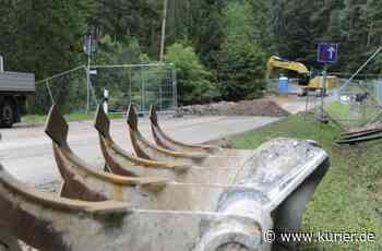 Theta-Cottenbach bald wieder offen - Mit Zement gegen den Hangrutsch - Nordbayerischer Kurier