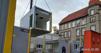 Containerdorf an der Hornschen Straße zieht weiter   Lokale Nachrichten aus Detmold - Lippische Landes-Zeitung