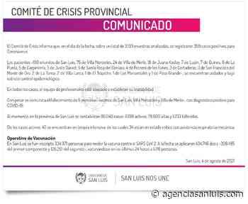Ascienden a 359 los casos de Coronavirus registrados este miércoles - Agencia de Noticias San Luis