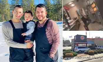 Married gay couple claim they were threatened and tossed out of Burger King restaurant by worker