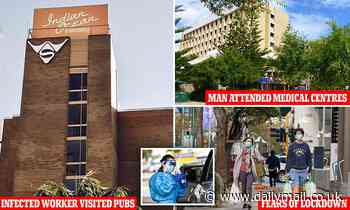 Worker infectious with Covid for up to 16 DAYS in Perth visits three pubs and two medical centres