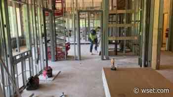 New Danville Police Department building construction on schedule - WSET