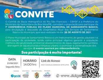 Santa Maria da Boa Vista realizará 1ª Conferência Pública para formação do Plano Municipal de Saneamento Básico - Blog do Didi Galvão
