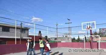 Interviene Ayuntamiento de Guadalupe canchas de usos múltiples - NTR Zacatecas .com