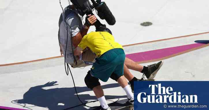 Australian skateboarder Kieran Woolley takes out – then fist bumps – cameraman