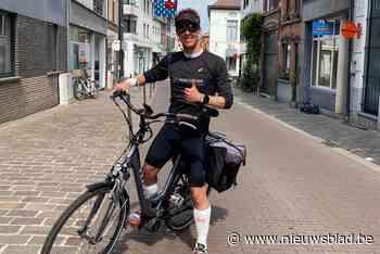 """Ultraloper Olivier moet op doktersbevel zijn marathonreeks staken, maar weigert op te geven: """"We doen gewoon voort op de fiets en desnoods met de camionette"""""""