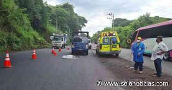 Anciano muere al ser atropellado en desvío a Chinameca, San Miguel - Solo Noticias