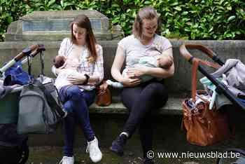 """Tientallen mama's geven tegelijk borstvoeding in het Gentse Citadelpark: """"Tonen dat dit normaal is"""" - Het Nieuwsblad"""