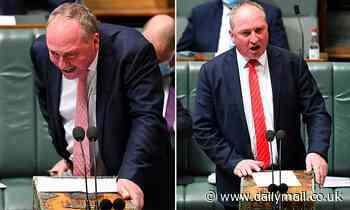 Barnaby Joyce slurs his words during Question Time