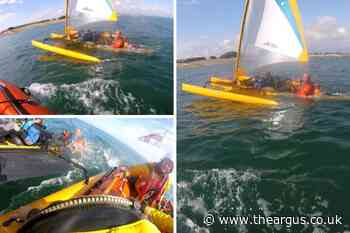 Helicopter called as two people rescued from sinking kayak off Selsey Bill