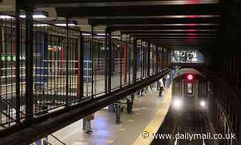 Bystanders rescued a man in a wheelchair who fell onto the subway tracks in NYC