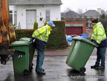 Bin collections delayed for these parts of Herefordshire