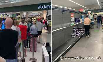 Panic buying breaks out across regional NSW with massive lines outside supermarkets