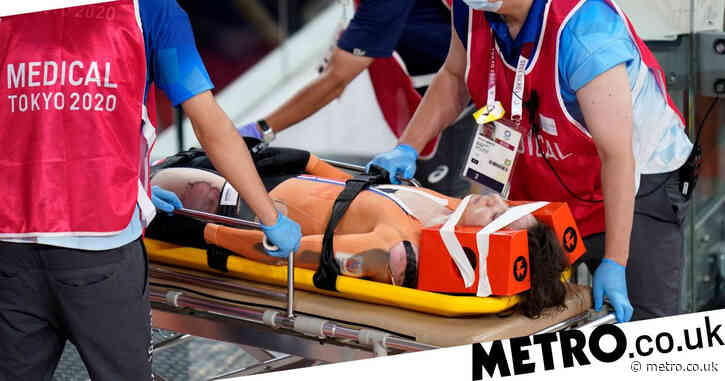 Dutch cyclist Laurine van Riessen stretchered off after horror crash with Team GB's Katy Marchant