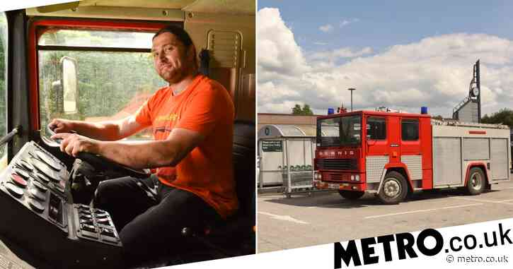 Man ditches his car and buys an old fire engine 'for a laugh'