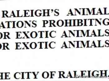 Ordinance aims to remove wild, exotic animals from Raleigh homes :: WRAL.com - WRAL.com