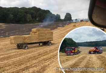 Pictures show damage after fire rips through field near Hereford