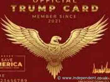 Donald Trump wants his supporters to carry special gold 'Trump cards'