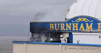 Burnham Pier fire: Blaze breaks out on one of UK's oldest illuminated piers