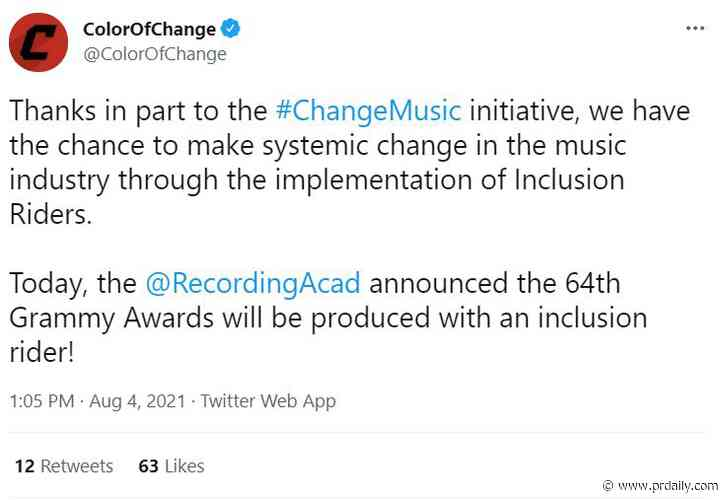 Recording Academy introduces Grammys inclusion rider, newspapers make more money from circulation than ads, and Vrbo responds to elevator tragedy