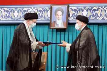 Iran swears in new hard-line president amid regional tension