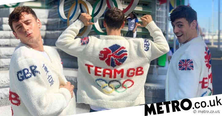 Tom Daley models the Team GB cardie he knitted at Olympics and it's as wholesome as you can get