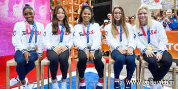 US gymnasts react to 'overwhelming' fan support in touching homecoming on TODAY plaza