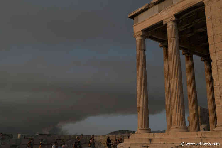 Greece's Acropolis Closes as Wildfires Resulting from a Heat Wave RageOn