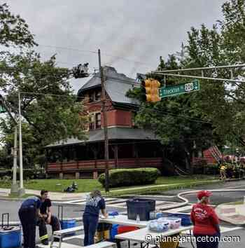 Firefighters battle two-alarm blaze at Princeton Theological Seminary building - - Planet Princeton