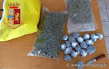 Priolo Gargallo. La Squadra Mobile arresta noto trafficante siracusano, con sé oltre 1 kg di marijuana: valore 25.000 euro - Libertà Sicilia
