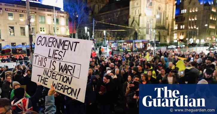 Victoria Covid update: protesters clash with police in Melbourne after snap seven-day lockdown announced