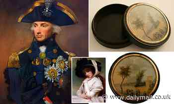Admiral Nelson's snuff box - which helped start his affair with Lady Hamilton - for sale for £45,000