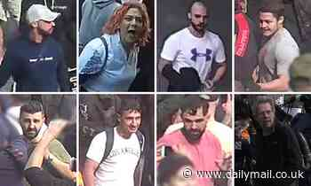 Police searching for eight men and a woman who allegedly protested in Sydney's anti-lockdown march