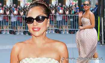 Lady Gaga brings the wow factor yet again in a VERY bold designer dress