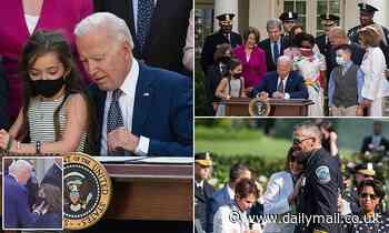 Biden signs bill awarding medals to Jan. 6 responders