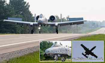 A-10 Tankbusters land on US road for first time ever in practice drill