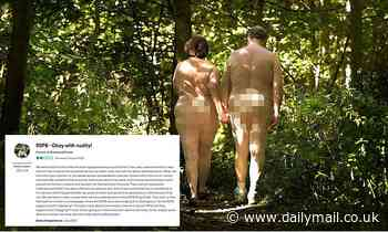 Bands of merry men walking NAKED around Sherwood Forest startle more buttoned-up visitors