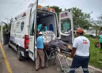 Un lesionado en choque carretero entre Chinameca- Chacalapa - Imagen de Veracruz