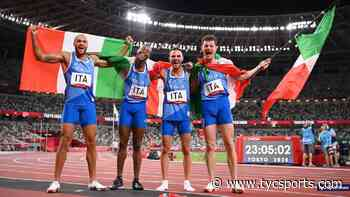 Italia y una nueva dorada en el atletismo de Tokio 2020: ganó la prueba 4x100 masculino - TyC Sports