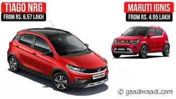 2021 Tata Tiago NRG Vs Maruti Suzuki Ignis – Detailed Comparison - GaadiWaadi.com