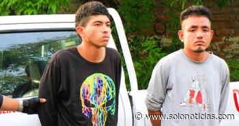 Capturados tras cometer un robo a mano armada en Apopa - Solo Noticias