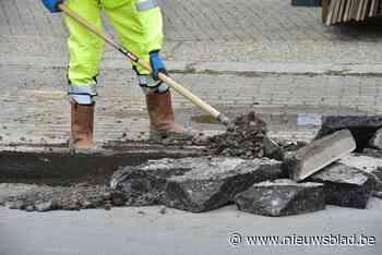 N8 in Wevelgem richting Kortrijk afgesloten door werken