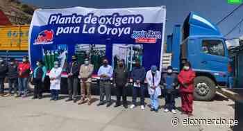 Yauli-La Oroya: entregan planta de oxígeno para enfrentar una posible tercera ola de COVID-19 - El Comercio Perú