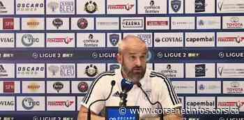 """VIDEO - Mathieu Chabert (SC Bastia) : """"la déception"""" - Corse Net Infos"""