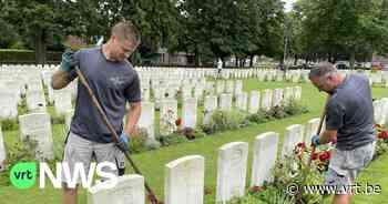 Extra mensen ingezet om onkruid te wieden op Britse begraafplaatsen rond Ieper - VRT NWS