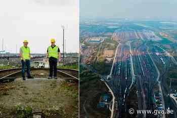 Antwerpen vanuit de hemel: groezelige vlakte met worstenketting van honderd treinsporen verbindt haven met bui - Gazet van Antwerpen