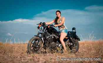Pic Talk: Divi Showing Her Thunder Thighs On A Harley.. - Greatandhra.com