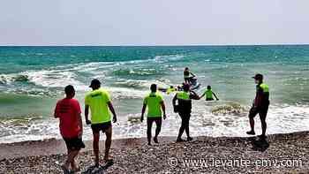 Simulacro en la playa de Corinto - Levante-EMV